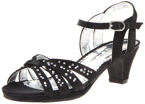 Nina Wendy Satin Sandales Black