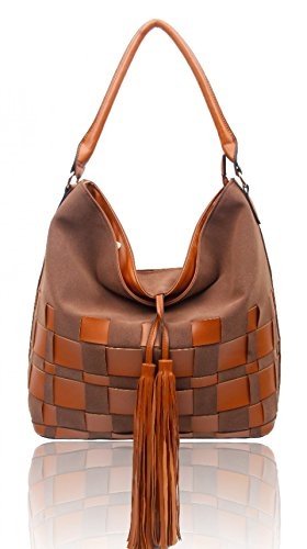 Craze London, Borsa a spalla donna Chocolate
