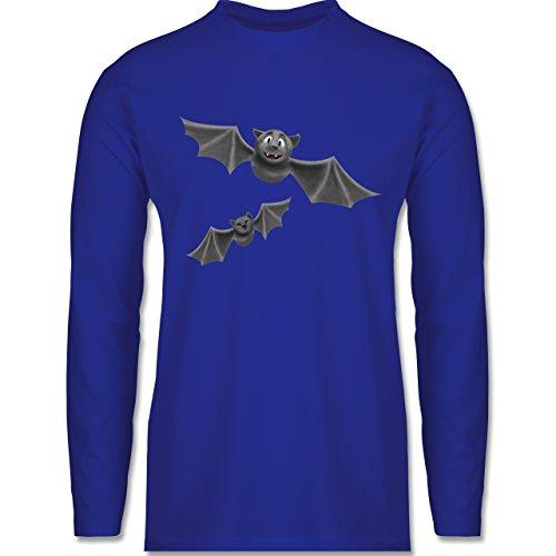Halloween - süße Fledermäuse - Longsleeve / langärmeliges T-Shirt für Herren Royalblau