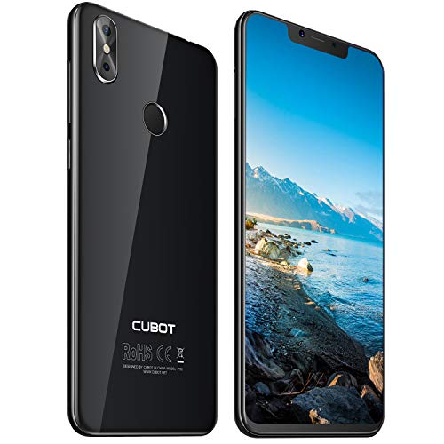 Cubot P20 4G-LTE Dual SIM Smartphone ohne Vertrag Android 8,0 Ultra dünn 6.18″(19:9) In-Cell Screen FHD Display (2246×1080px) mit 4000 mAh Akku 4GB RAM + 64GB ROM Handy Ohne Vertrag Schwarz