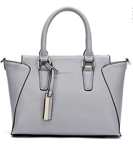 Xinmaoyuan Borse donna Portable Borsa da donna semplice spalla borsa Messenger Bag Ali Grigio chiaro