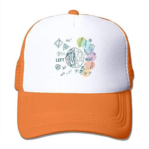 Wdskbg Brain Adjustable Sports Mesh Baseball Caps Trucker Cap Sun Hats ()