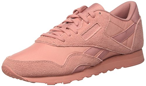 Reebok Damen Classic Nylon BD5717 Sneaker, Mehrfarbig (Pink 001), 37.5 EU Classic Nylon Reißverschluss