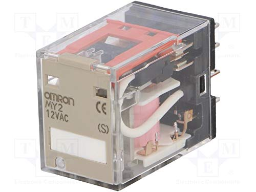 Omron Umschalt-Relais 10 A DPDT Montage Plug In 2-polig, MY2N 12AC (S), 1 -