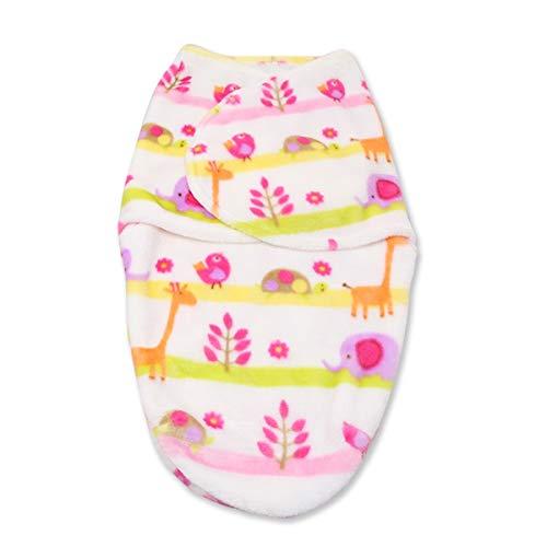 Neugeborenen Babydecken Weiche Flanell Velvet Swaddle Wrap Schlafsack Warme Bettwäsche Decke für Jungen Mädchen (Color : Pink, Size : 0-6 Months) (Vollständige Bettwäsche Mädchen)