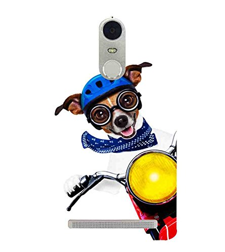 "Humor Gang Cute Dog Driving Bike Printed Designer Mobile Back Cover For ""Lenovo k5 Note"" (3D, Matte Finish, Premium Quality, Protective Snap On Slim Hard Phone Case, Multi Color)"
