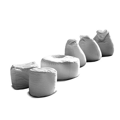 Pouf-poltrona-sacco-grande-BAG-XXL-Jive-tessuto-tecnico-antistrappo-bianco-imbottito-Avalon