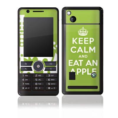 DeinDesign Folie kompatibel mit Sony Ericsson G900 Aufkleber Skin aus Vinyl-Folie Keep Calm Apfel Statements