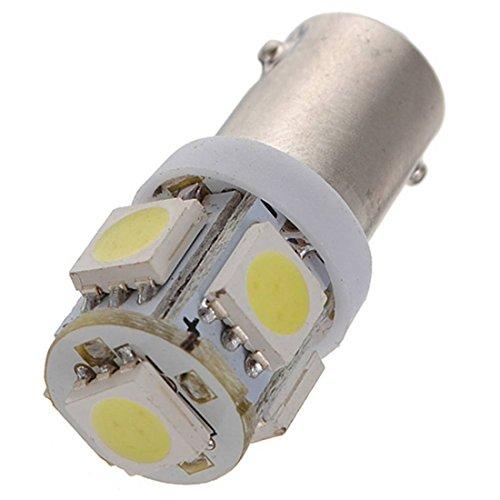 T11 BA9S LED Ampoule - SODIAL(R)10 x T11 BA9S 5 LED 5050 SMD Auto Ampoule H5W Voiture Lampe Xenon Blanc 5500K DC 12V