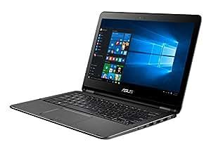Asus TP301UJ-C4094T Flip Notebook, Display da 13.3 Pollici Full HD, Intel Core i7-6500U, RAM 8 GB, SSD 256 GB, Nero