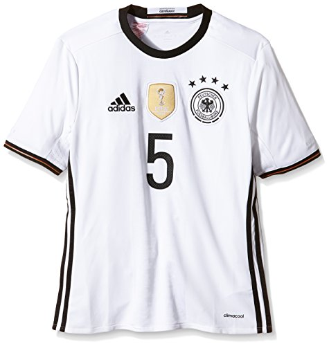 adidas Kinder Trikot DFB Home Jersey Youth Hummels White, 128 -