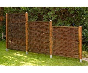 bambus-discount.com Weidenzaun günstig, London eco Modell, 120 x 120cm - Sichtschutzzäune Sichtschutzmatten