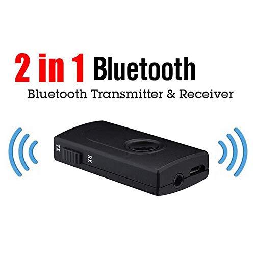 Glodenbridge - Trasmettitore Wireless Bluetooth V4.2 EDR, 3,5 mm, Adattatore Audio Stereo per PC, TV, Telefono, Y1X2, MP3, MP4, TV PC
