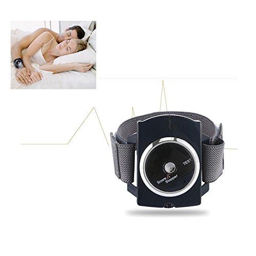 KOBWA Schnarchstopper - Anti-Snore Handgelenk Band - Schnarch-Stopper mit Bio-Feedback-Impuls Klebepads (Anti Schnarch Uhr)