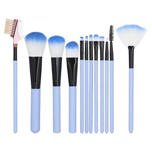 DaySing Brosse Pinceaux Maquillage,12Pcs Maquillage Base Sourcils Eyeliner Blush Pinceaux CosméTique Anticernes Poils Synthetiques Doux Et sans Cruauté