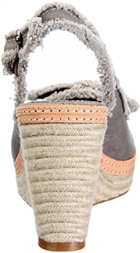 Esprit Plateaupumps Anna Bow grau Textil Warm Grey