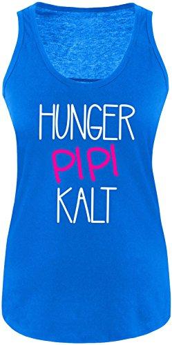 Luckja Hunger Pipi Kalt Damen Tanktop Royal/Weiss/Pink