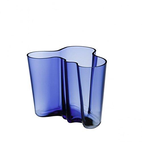 Iittala 1021061 Alvar Aalto Vasen, Glas, Blau, 19 x 20 x 16 cm