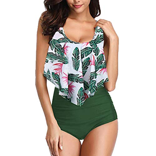 Asalinao Push Up Bandeau Bikini Set Damen Push Up Badeanzug Größen erhältlich (Für Plus Größe Sex Thong)
