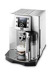 De'Longhi Perfecta ESAM 5500.S/M Kaffeevollautomat (1350 W, 1,8 l, Digitaldisplay, integriertes Milchsystem, Kegelmahlwerk 13 Stufen, Herausnehmbare Brühgruppe, 2-Tassen-Funktion) silber