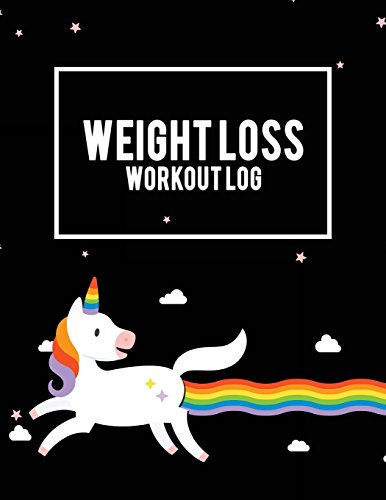 Weight Loss Workout Log: LGBT Pride Unicorn, Weekly Menu Meal Plan And Weekly Workout Progress Planner Large Print 8.5