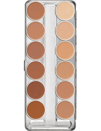 Kryolan 75004 Dermacolor Camouflage Creme Palette 12 Colors, 4 Color Options: A, B, C, Caribbean (C) by Kryola