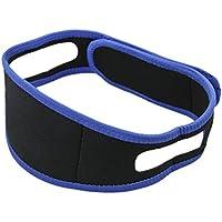Cinturón de correa de la barbilla ajustable roncar ronquido mandíbula correa rápida eficaz Natural para mejor Silencioso sueño, color negro, tamaño L