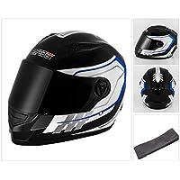 150113f07a3cb Qianliuk Moto Mototorcycle Casco Full Face Cap Cascos Moto Motocross Casco  de Seguridad Negro Blanco 53