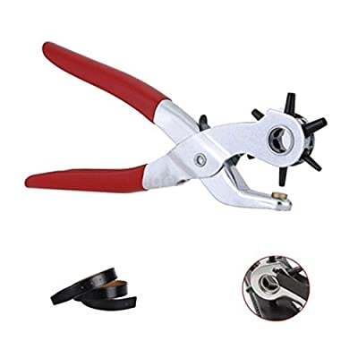 Wuze Metal Hole Punch Pliers Repair Tool Multi Tools for Leather Strap Waist Belt Waist Band