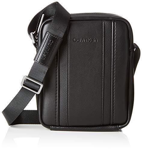 Calvin Klein Herren Essential 1 G Ipad Mini Reporter Henkeltasche, Schwarz (Black), 6x17x21 cm