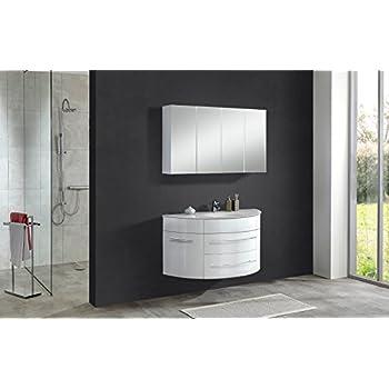 badezimmer salsa badm bel bad set hochglanz schwarz inkl waschbecken spiegel. Black Bedroom Furniture Sets. Home Design Ideas