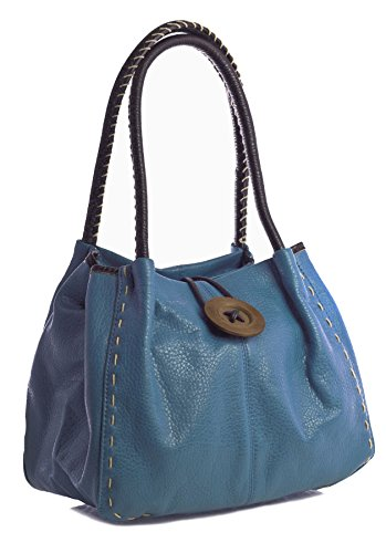 Big Handbag Shop, Borsa a spalla donna One Blu (Bondi Blue)