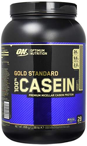 Optimum Nutrition Gold Standard Casein Protein Pulver (mit Glutamin und Aminosäuren. Eiweisspulver von ON) Cookies & Cream, 28 Portionen, 0,9kg -