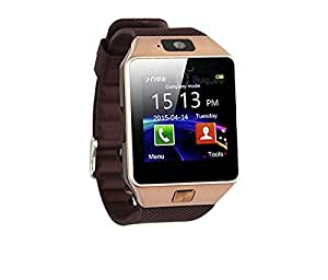 Bluetooth DZ09 Smart Watch Wrist Watch Phone with Camera & SIM Card Support with 180 Days Warranty (Colour Rose Gold) compatiable with Huawei Ascend Mate 2