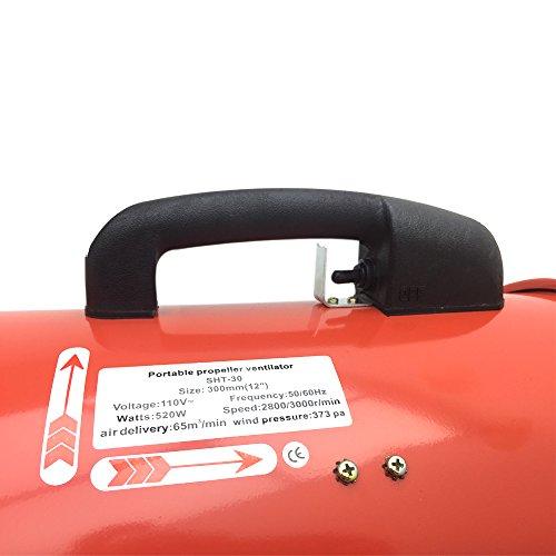Industriel Portable Ventilateur Ventilation Air Mover Atelier Extracteur De Poussière Axial Métal Souffleur 110V Résistant Commercial 12'' 300mm 16'' 400mm - 300 mm