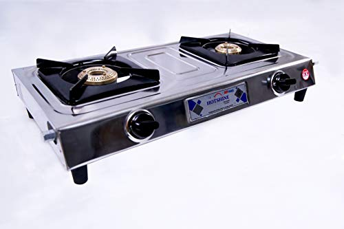 Hot Shine 2 Burner ISI Approved Gas Stove (Economy DLX, CI Burner)