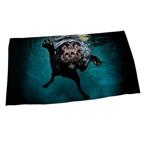 Asciugamano da spiaggia in microfibra telo da bagno creativo da nuoto per cani da immersione asciugamano da bagno con stampa digitale in 3d
