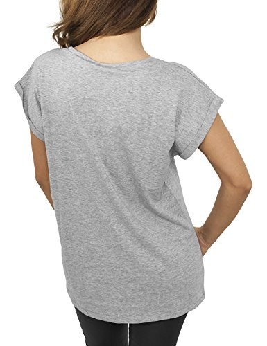 Urban Classics Ladies Extended Shoulder Tee, T-Shirt Femme Grau (grey 111)