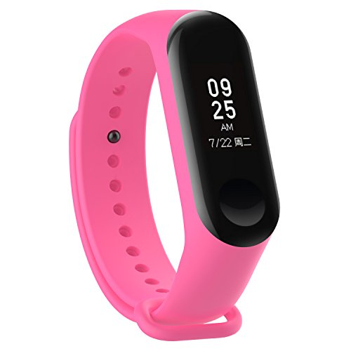 XIHAMA - Correa de Silicona Suave de Repuesto para Reloj Deportivo Inteligente Xiaomi Mi Band 3 (Rosa)