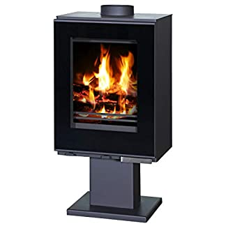 Estufa de leña para quemar 9/12 kW de potencia de calefacción de combustible sólido