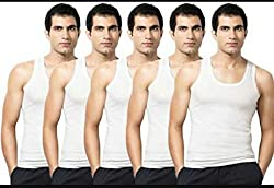 Amul Macho Praka Premium Sleeveless Vest Pack of 5 Pcs (Size-95) (Linning Baniyan)