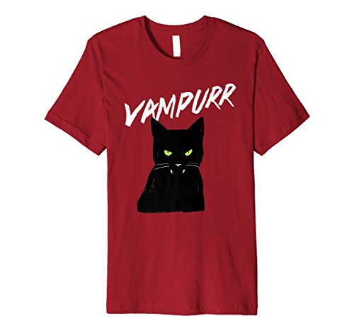 Vampir Katze vampurr T-Shirt Halloween Party Tee