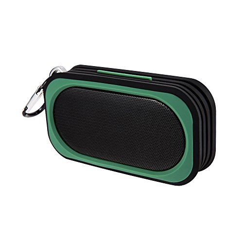 Proxelle - Mini Altavoz Bluetooth Impermeable IP67, Bafles Portátiles, Sin cables, Resistente al Agua, Manos Libres Micrófono para Android, iPhone, PC, Laptop - Verde