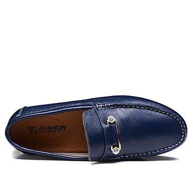 Chaussures d'hommes Office & Carrière / Party & soirée / Trotteurs en cuir décontracté bleu / Brown Brown