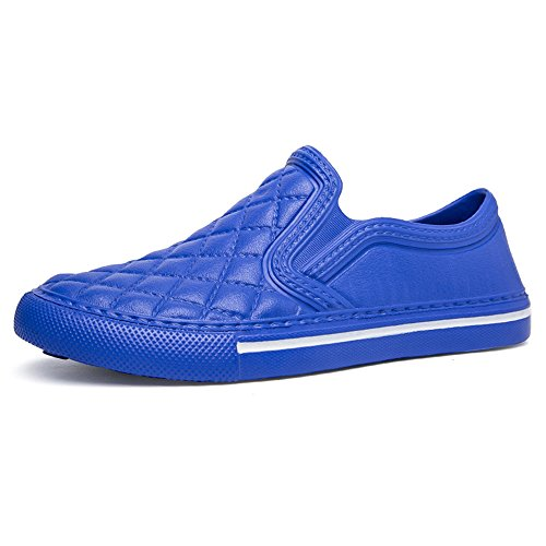 Espadrilles Mixte Adulte Baskets Mode Mocassins Femme Homme Chaussures Plates Noir Blanc Bleu