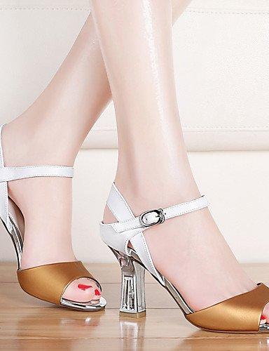 LFNLYX Scarpe Donna-Sandali-Matrimonio / Ufficio e lavoro / Formale / Casual / Serata e festa-Spuntate-Quadrato-Sintetico-Giallo / Bianco White