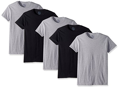 Assorted, Fruit of the Loom Mens 5-Pack Crew T-Shirt