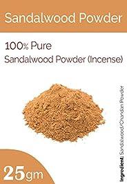 Sandalwood Powder (Incense) for Face Masks, Facials and Skin Care (25 Gm)