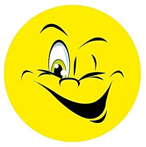 Autoaufkleber Sticker Smile zwinkernd NEU Aufkleber