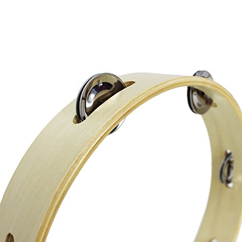 A-Star AP3213 Headless Wooden Tambourine, 10-Inch
